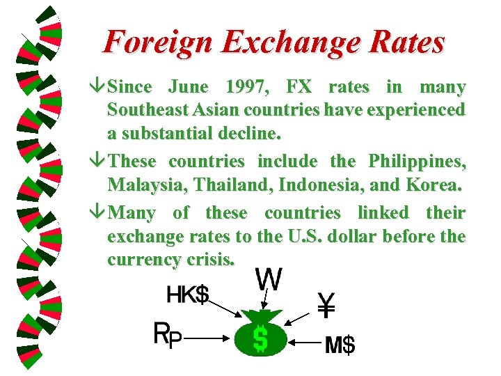 Foreign Exchange Rates â Since June 1997, FX rates in many Southeast Asian countries