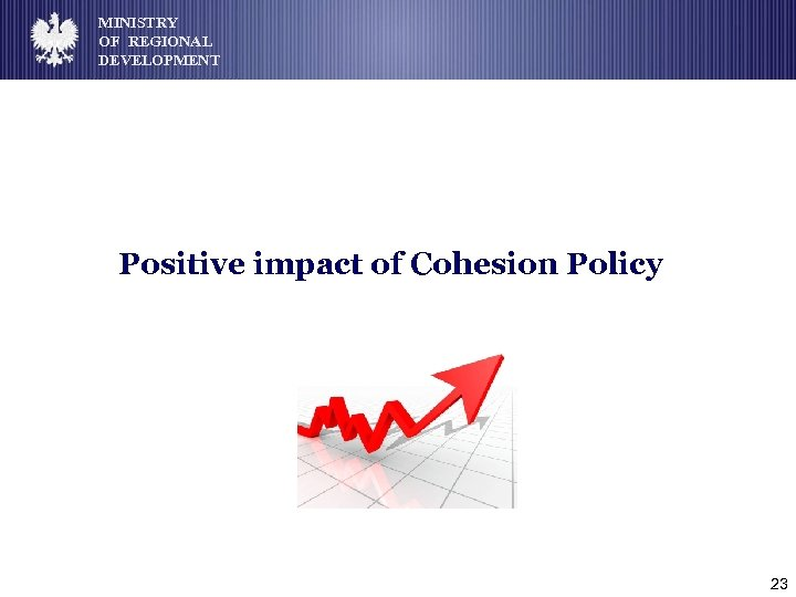 MINISTRY OF REGIONAL DEVELOPMENT Positive impact of Cohesion Policy 23