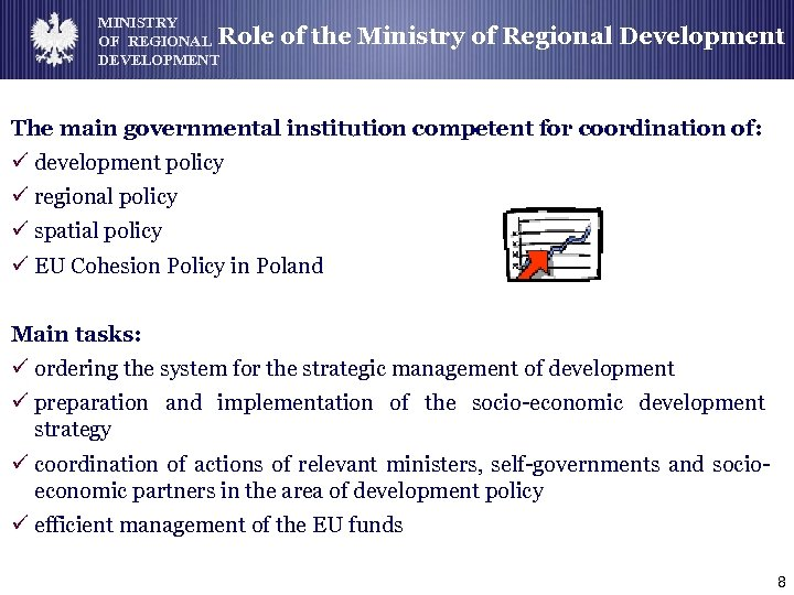 MINISTRY OF REGIONAL Role DEVELOPMENT of the Ministry of Regional Development The main governmental