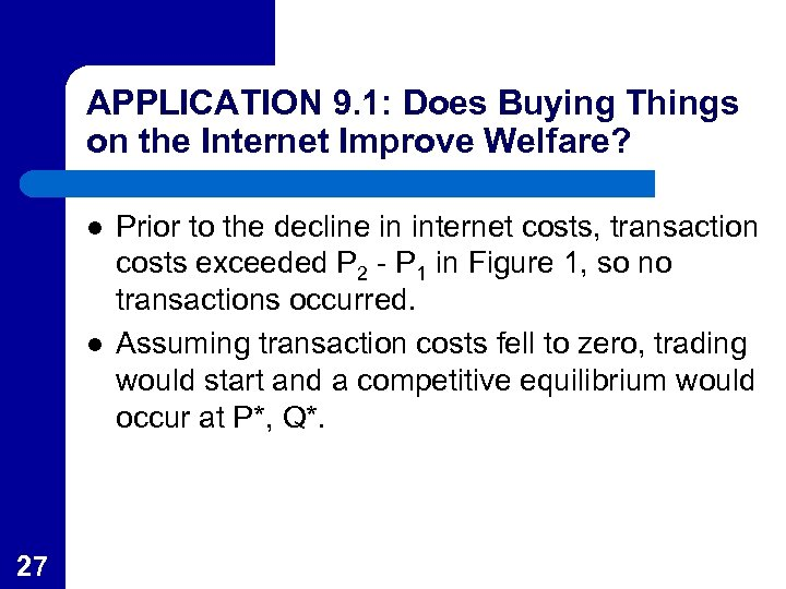 APPLICATION 9. 1: Does Buying Things on the Internet Improve Welfare? l l 27