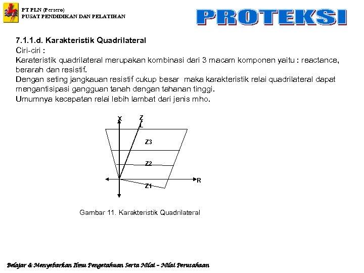 PT PLN (Persero) PUSAT PENDIDIKAN DAN PELATIHAN 7. 1. 1. d. Karakteristik Quadrilateral Ciri-ciri