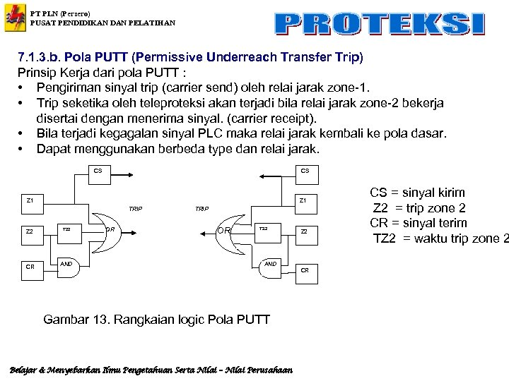 PT PLN (Persero) PUSAT PENDIDIKAN DAN PELATIHAN 7. 1. 3. b. Pola PUTT (Permissive