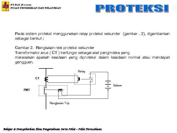 PT PLN (Persero) PUSAT PENDIDIKAN DAN PELATIHAN Pada sistem proteksi menggunakan relay proteksi sekunder
