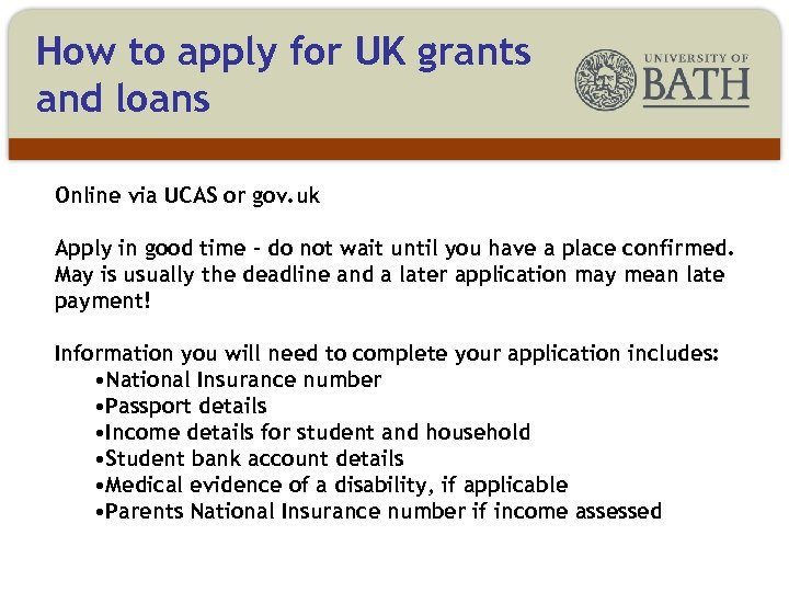 How to apply for UK grants and loans Online via UCAS or gov. uk
