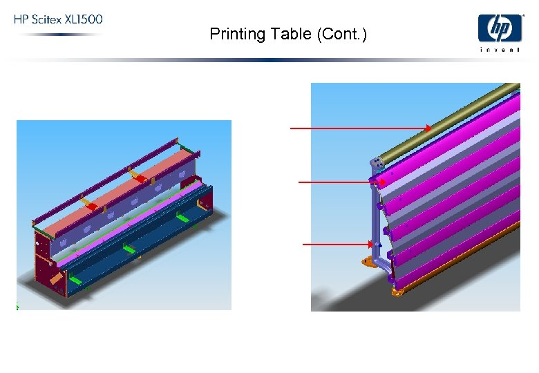 Printing Table (Cont. )