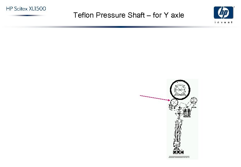 Teflon Pressure Shaft – for Y axle