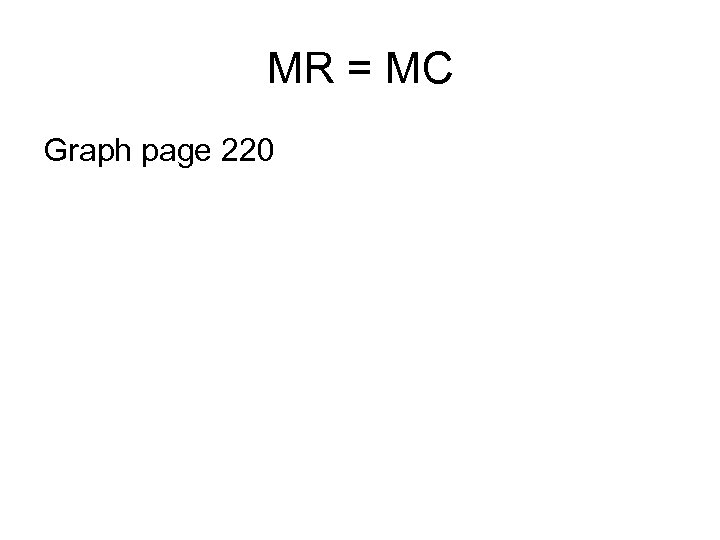 MR = MC Graph page 220
