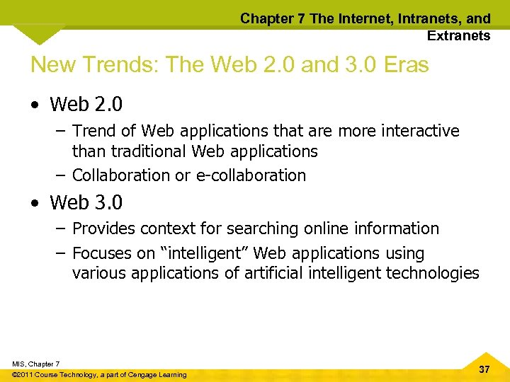 Chapter 7 The Internet, Intranets, and Extranets New Trends: The Web 2. 0 and