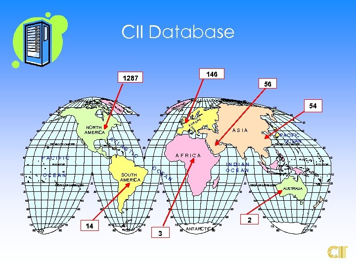 CII Database 69 146 1287 80 80 GR EE NL 70 AN 80 70
