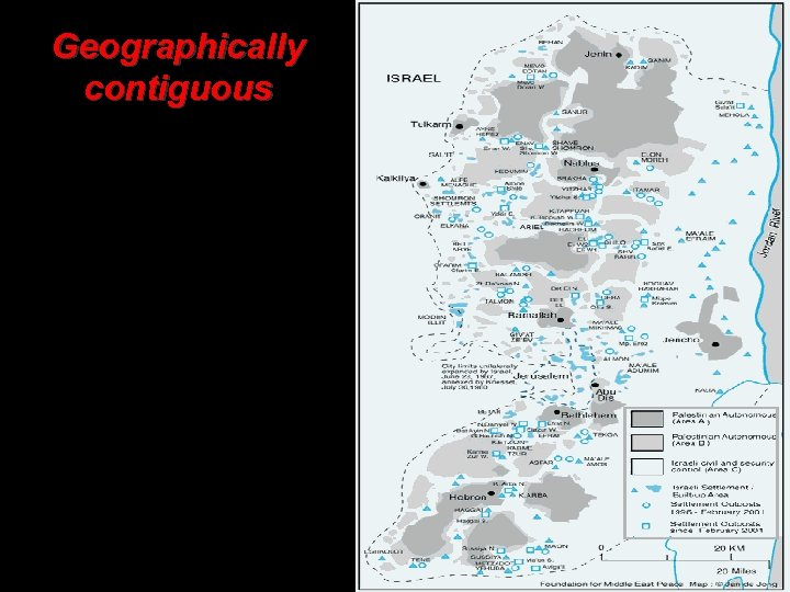 Geographically contiguous