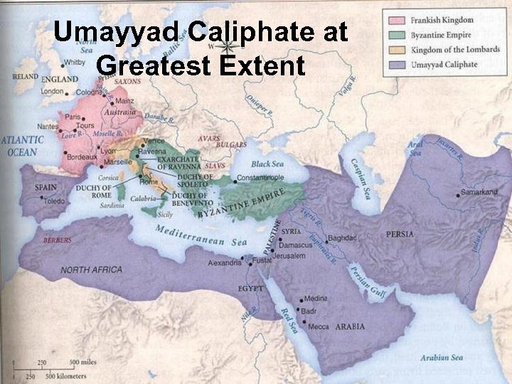 Umayyad Caliphate at Greatest Extent