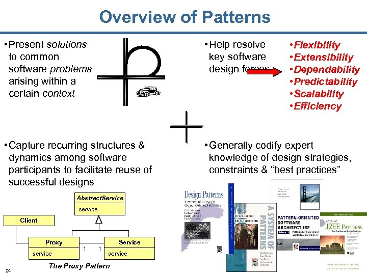 Overview of Patterns • Present solutions to common software problems arising within a certain