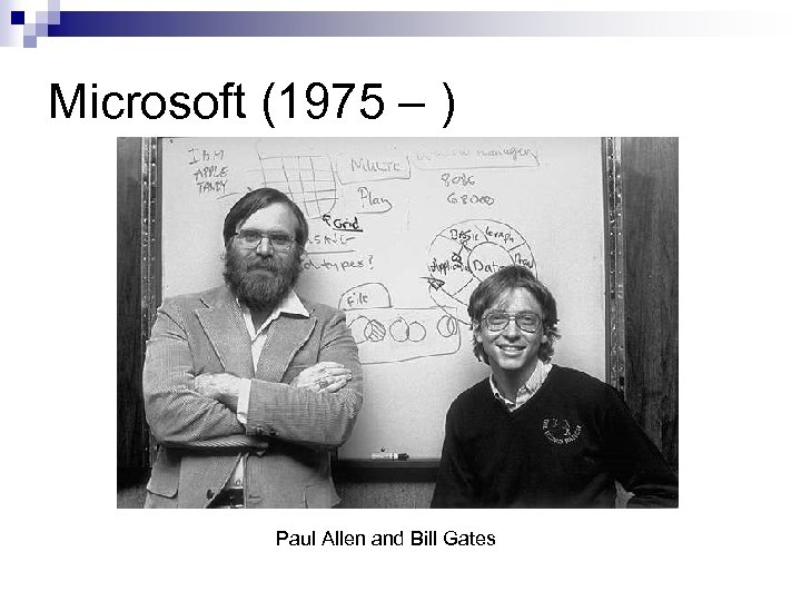 Microsoft (1975 – ) Paul Allen and Bill Gates