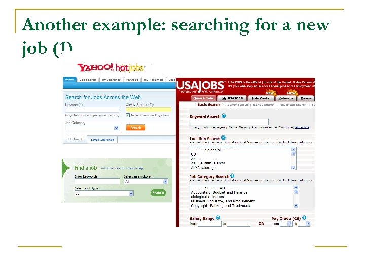 Another example: searching for a new job (1)
