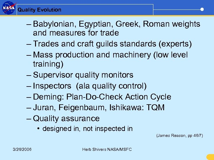 Quality Evolution – Babylonian, Egyptian, Greek, Roman weights and measures for trade – Trades