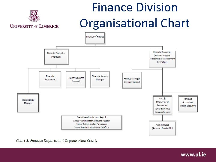 Finance Division Organisational Chart