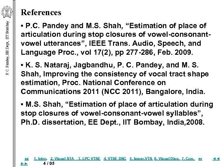 P. C. Pandey, EE Dept, IIT Bombay References ▪ P. C. Pandey and M.