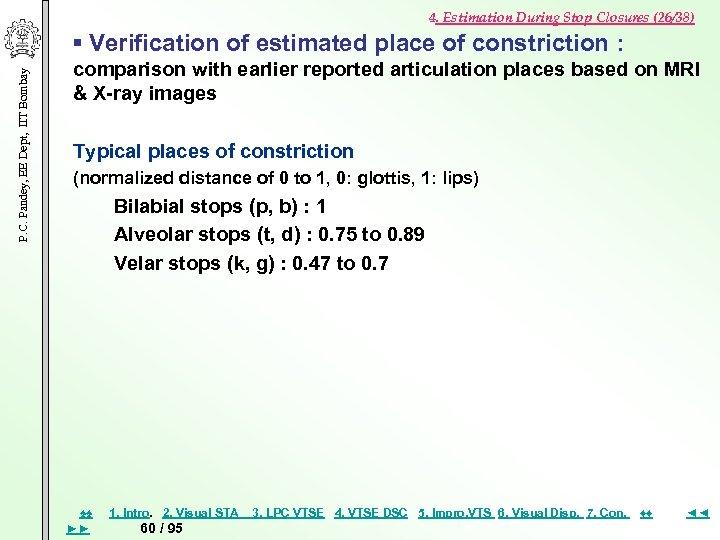 4. Estimation During Stop Closures (26/38) P. C. Pandey, EE Dept, IIT Bombay ▪