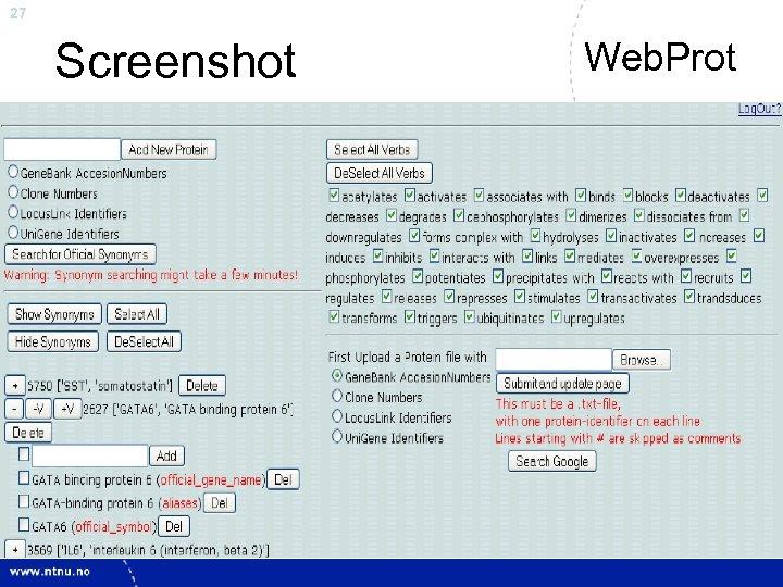 27 Screenshot Web. Prot
