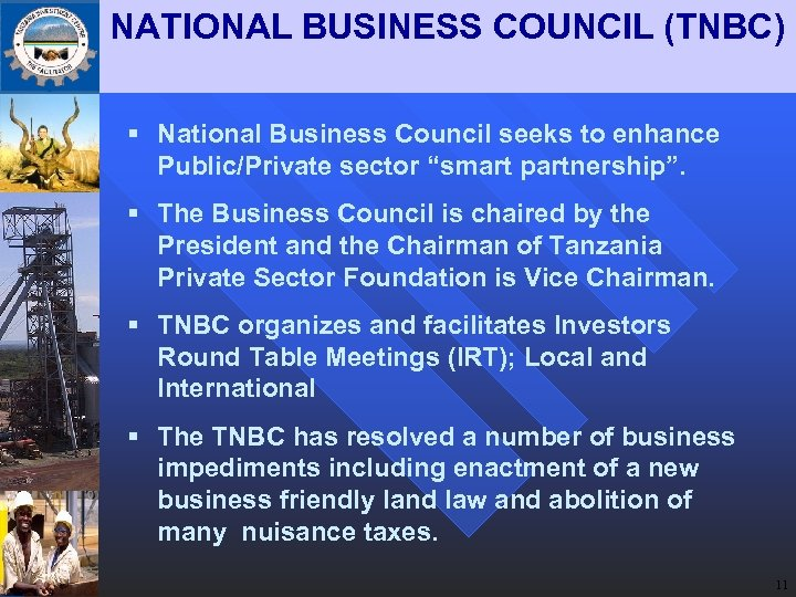"""NATIONAL BUSINESS COUNCIL (TNBC) § National Business Council seeks to enhance Public/Private sector """"smart"""