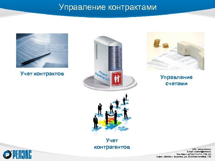 Управление контрактами Учет контрактов P Tra roje cki ct ng 2. 0 Учет контрагентов