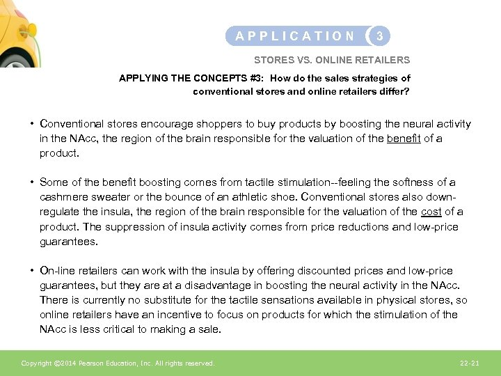 APPLICATION 3 STORES VS. ONLINE RETAILERS APPLYING THE CONCEPTS #3: How do the sales