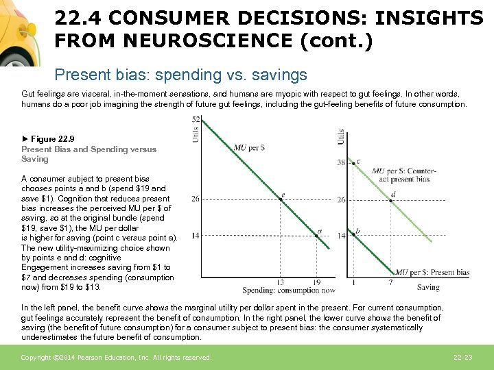 22. 4 CONSUMER DECISIONS: INSIGHTS FROM NEUROSCIENCE (cont. ) Present bias: spending vs. savings