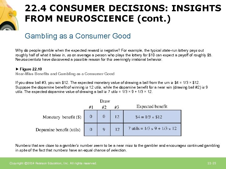22. 4 CONSUMER DECISIONS: INSIGHTS FROM NEUROSCIENCE (cont. ) Gambling as a Consumer Good