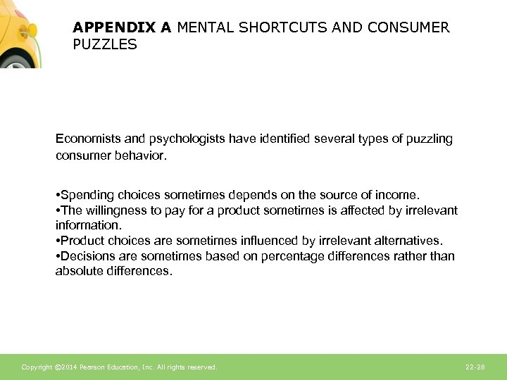 APPENDIX A MENTAL SHORTCUTS AND CONSUMER PUZZLES Economists and psychologists have identified several types