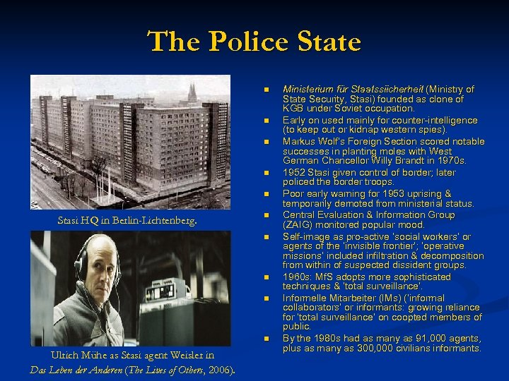 The Police State n n n Stasi HQ in Berlin-Lichtenberg. n n n Ulrich