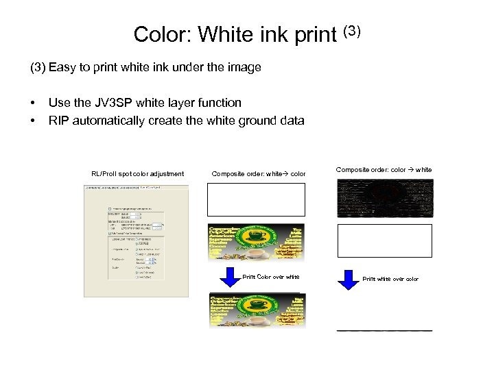Color: White ink print (3) Easy to print white ink under the image •