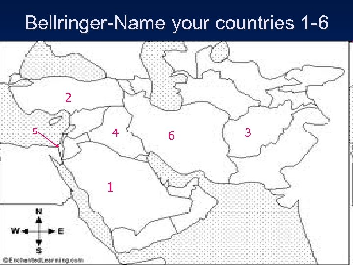 Bellringer-Name your countries 1 -6 2 5 4 1 6 3