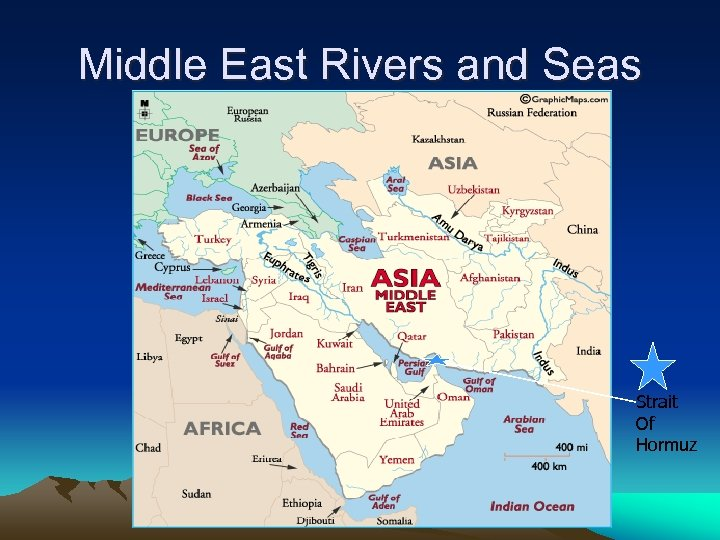 Middle East Rivers and Seas Strait Of Hormuz