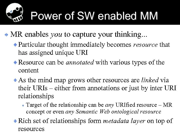 Power of SW enabled MM MR enables you to capture your thinking. . .