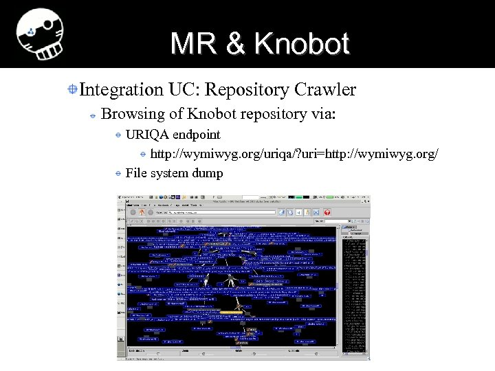 MR & Knobot Integration UC: Repository Crawler Browsing of Knobot repository via: URIQA endpoint