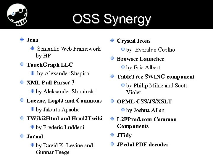 OSS Synergy Jena Semantic Web Framework by HP Touch. Graph LLC by Alexander Shapiro