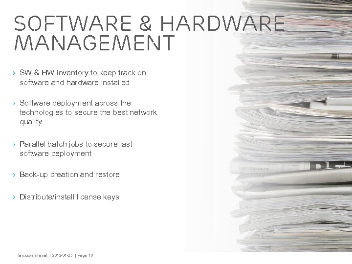 Software & Hardware Management › SW & HW inventory to keep track on software