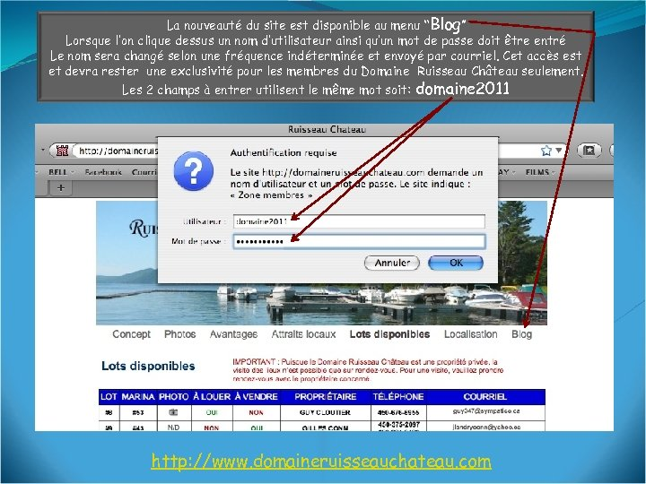 """La nouveauté du site est disponible au menu """"Blog"""" Lorsque l'on clique dessus un"""
