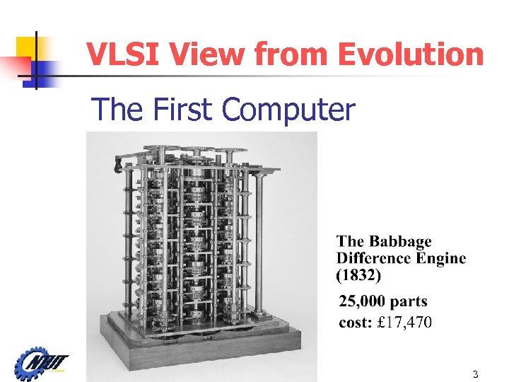 VLSI View from Evolution The First Computer VLSI Lab 205 / C-C Tsai 3
