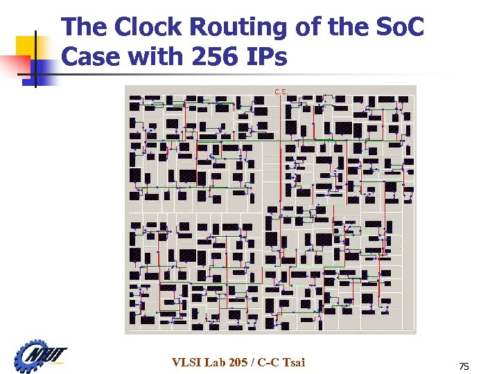 The Clock Routing of the So. C Case with 256 IPs VLSI Lab 205