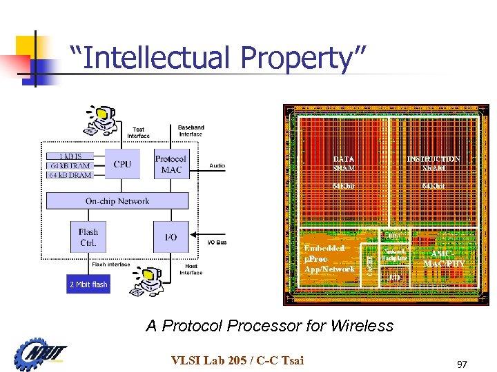 """""""Intellectual Property"""" A Protocol Processor for Wireless VLSI Lab 205 / C-C Tsai 97"""