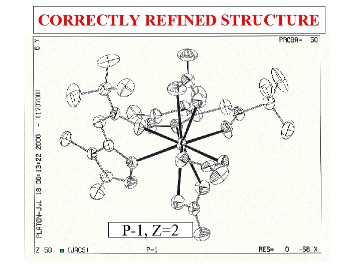 CORRECTLY REFINED STRUCTURE P-1, Z=2
