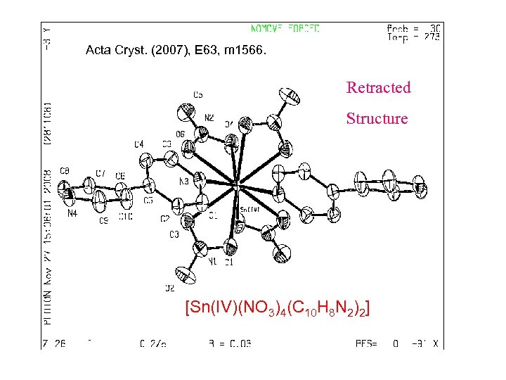 Acta Cryst. (2007), E 63, m 1566. Retracted Structure [Sn(IV)(NO 3)4(C 10 H 8