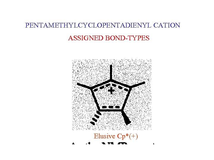 PENTAMETHYLCYCLOPENTADIENYL CATION ASSIGNED BOND-TYPES Elusive Cp*(+)