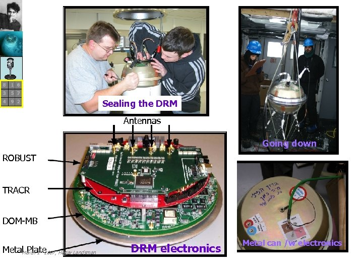 Sealing the DRM Antennas Going down ROBUST TRACR DOM-MB Metal Plate Hagar Landsman March