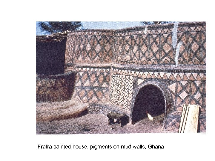 Frafra painted house, pigments on mud walls, Ghana