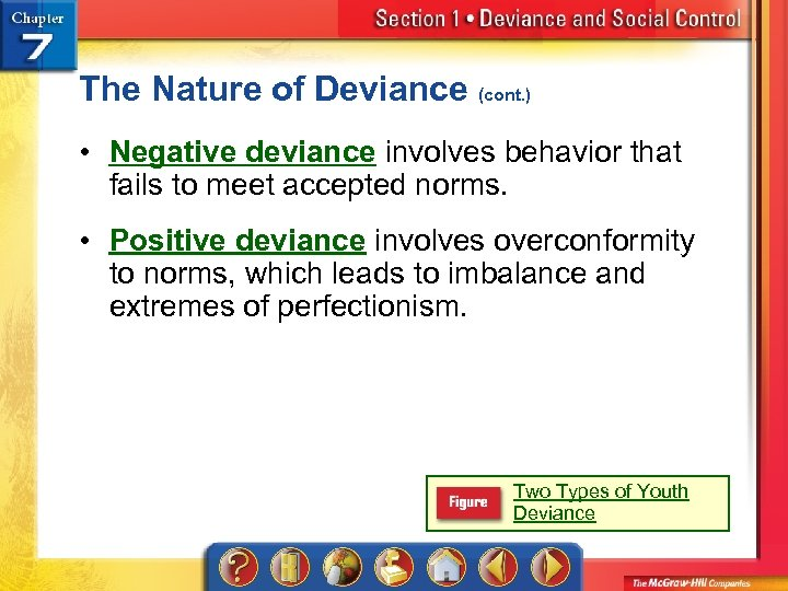 The Nature of Deviance (cont. ) • Negative deviance involves behavior that fails to