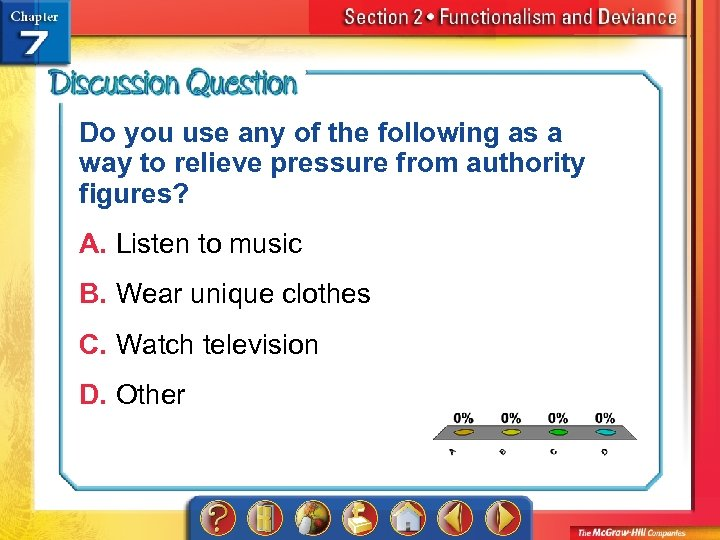 Do you use any of the following as a way to relieve pressure from