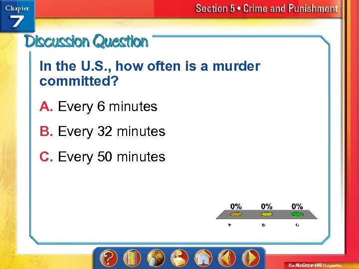 In the U. S. , how often is a murder committed? A. Every 6