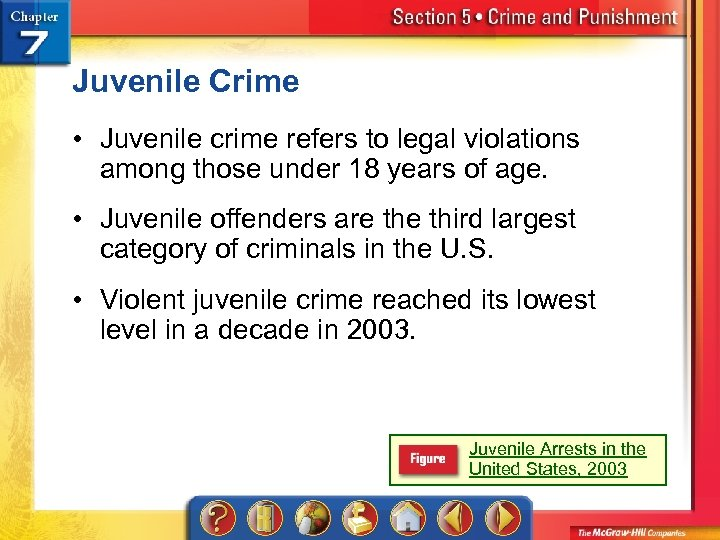 Juvenile Crime • Juvenile crime refers to legal violations among those under 18 years